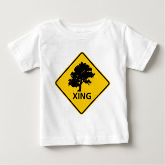 Tree Crossing Highway Sign Baby T-Shirt