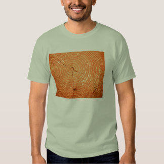 Tree cut texture tee shirt