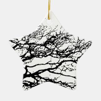 tree ceramic star decoration