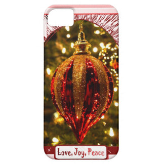 Tree decoration, Love Joy Peace Barely There iPhone 5 Case