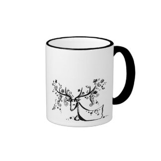 Tree Deer Ringer Mug