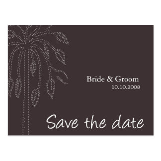Tree design Color-Ebony Save the date Postcards