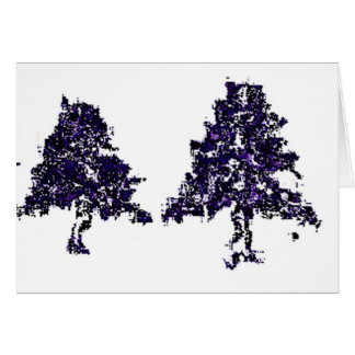 Tree doodle greeting card