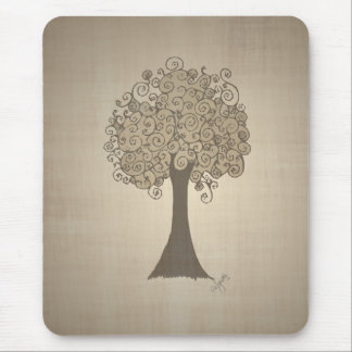 Tree Doodle Mouse Pad