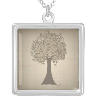 Tree Doodle Necklace