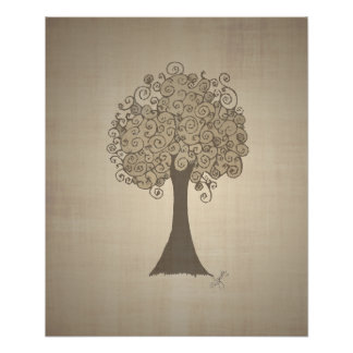 Tree Doodle Poster