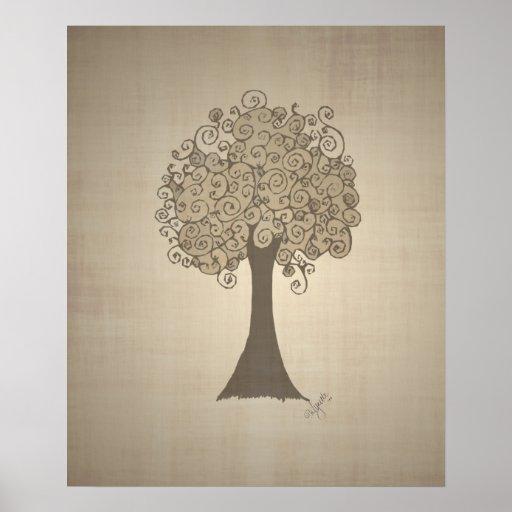 Tree Doodle Print