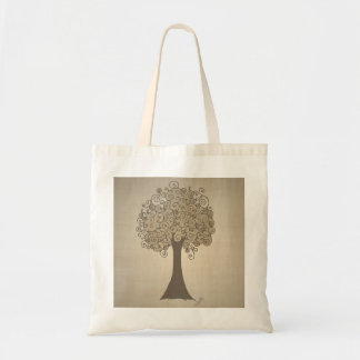 Tree Doodle Tote Bag