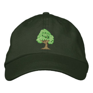 Tree Embroidered Hat