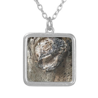 Tree Eyes Silver Plated Necklace