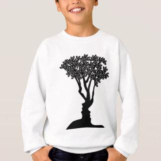 Tree Faces Optical Illusion Concept Sweatshirt