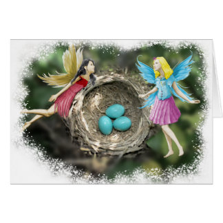 Tree Fairies at the Robins' Nest Card