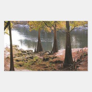 Tree Fall On Calm River Sticker