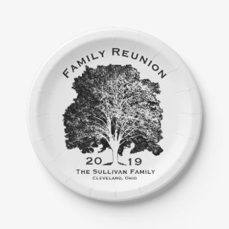 Tree Family Reunion Gathering Party Personalized Paper Plate