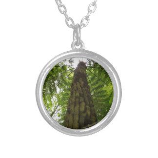 Tree Fern Round Pendant Necklace