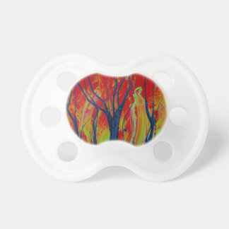 tree flame spraypainting baby pacifier