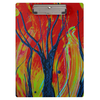 tree flame spraypainting clipboard
