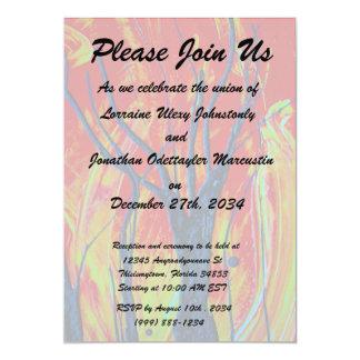 tree flame spraypainting custom invitations