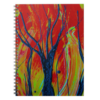 tree flame spraypainting spiral note books