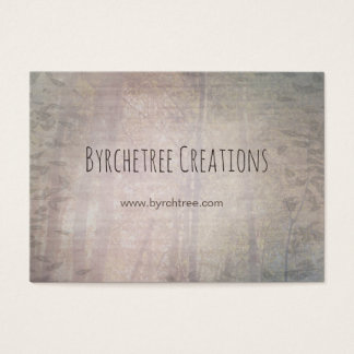 Tree Forest and Leaves Light Neutral Taupe Green Business Card
