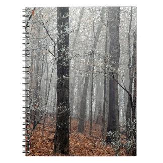 Tree Forest Frost Edwin Nashville Spiral Notebook