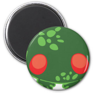 tree frog 6 cm round magnet