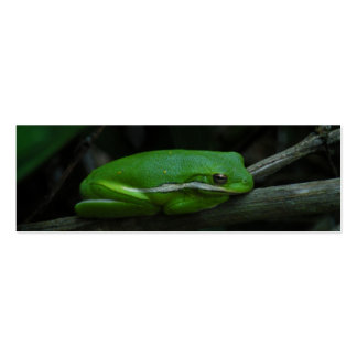 Tree Frog Bookmark Business Cards
