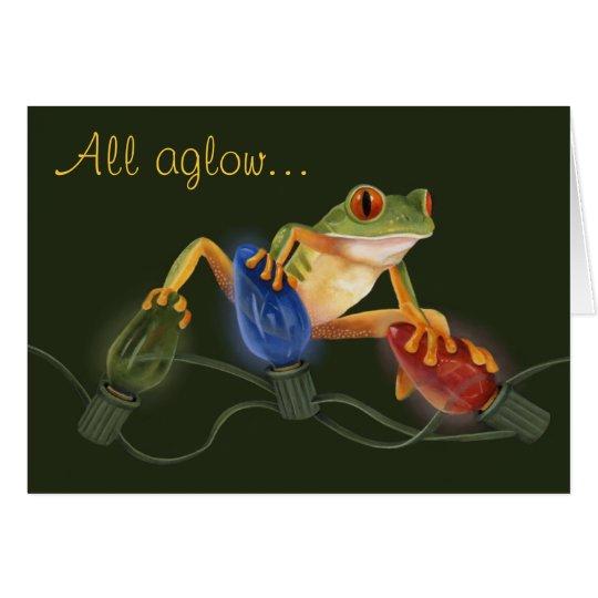 Tree Frog Christmas Card