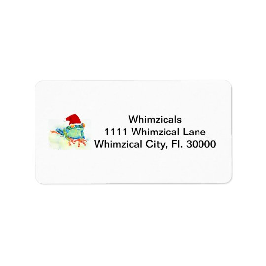 Tree Frog Christmas Gifts Address Label