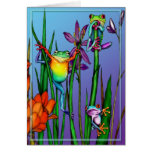 Tree Frog Garden Greeting Card