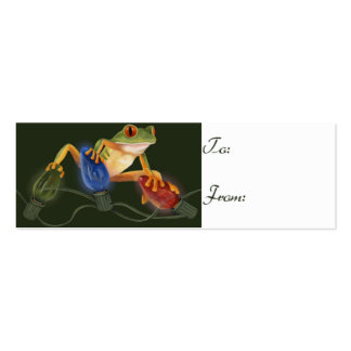 Tree Frog Gift Tag Pack Of Skinny Business Cards