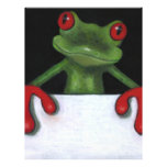 TREE FROG HOLDING SIGN: YOU PICK WORDING 21.5 CM X 28 CM FLYER