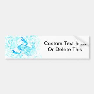 tree frog invert blue white moss animal design bumper stickers