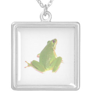 Tree Frog Necklace (Square)