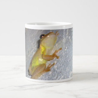 tree frog on wall watercolor style jumbo mug