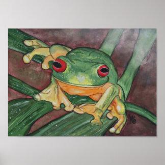 Tree Frog Poster-Original Painting Poster