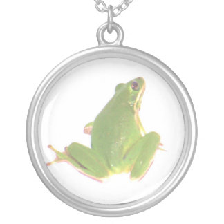 Tree Frog Round Necklace