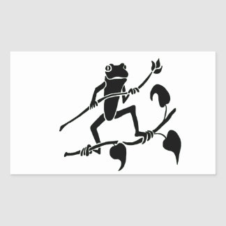 Tree Frog Silhoette Rectangular Sticker