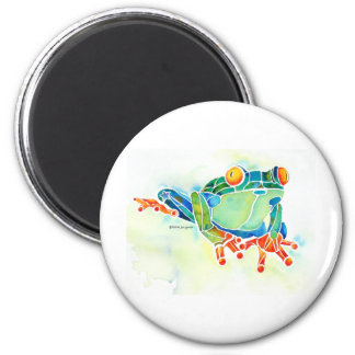 Tree Frog Whimsical Green Refrigerator Magnet