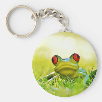 Tree Frog With Red Eyes Keychain