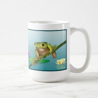 Tree frog with Tranquility symbol mug
