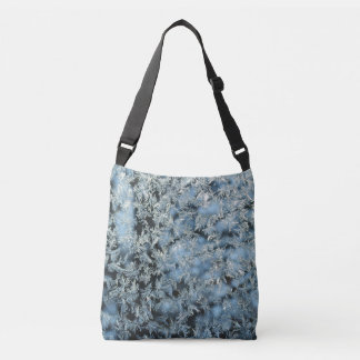Tree Frost Nature Abstract Photographic Art Crossbody Bag