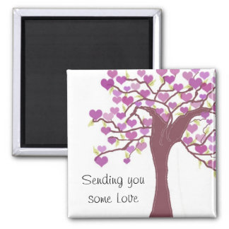 Tree Full of Hearts Square Magnet
