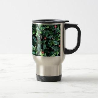 Tree Green Leaf Stainless Steel Travel Mug