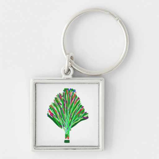 TREE Green Plant Artistic Party Giveaway Novelty Key Chains