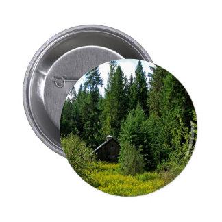 Tree Green Shack Pinback Buttons