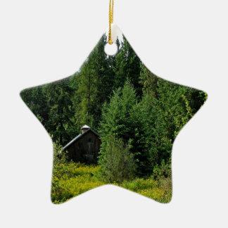 Tree Green Shack Christmas Ornament