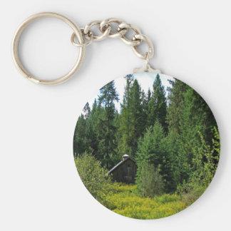 Tree Green Shack Key Chains