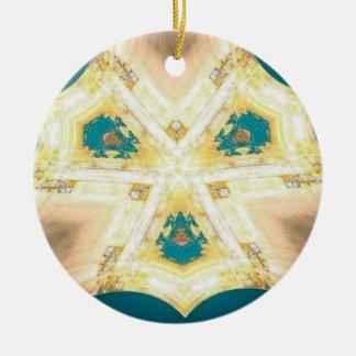 Tree Hanger : CHAL8 Round Ceramic Decoration