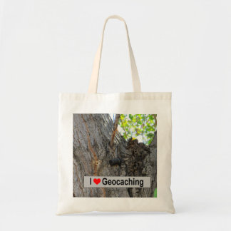 Tree hanger geocache tote bag
